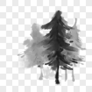水墨树图片