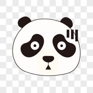 熊猫惊讶表情头像图片