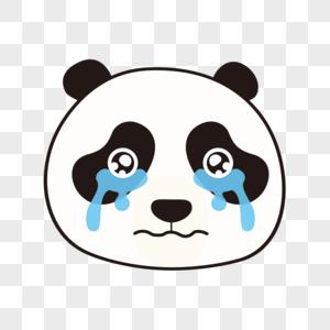 熊猫哭表情包图片