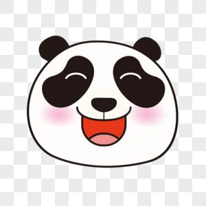 熊猫大笑表情包图片