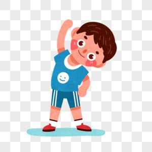 做运动儿童图片