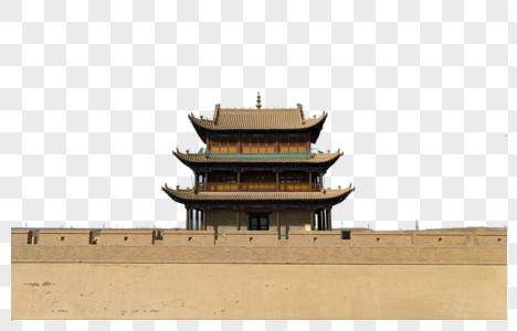嘉峪关古城楼图片