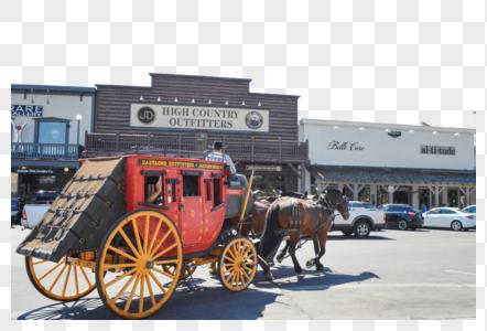 美国盐湖城马车图片