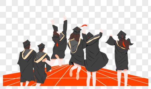 操场学士服个性毕业照图片
