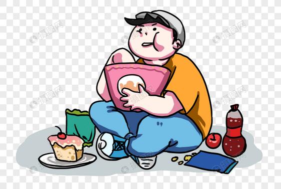 吃东西的胖子图片