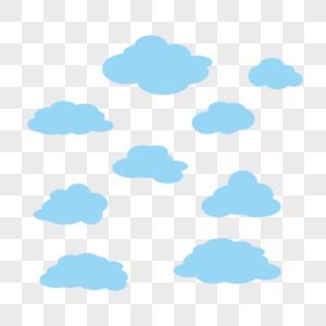 不同形状矢量云朵图片
