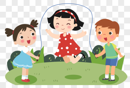 小朋友跳绳玩耍图片