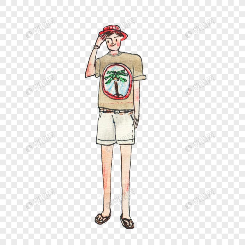 戴帽子的男孩元素素材下载 正版素材401293543 摄图网