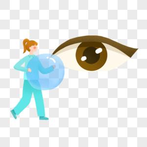 爱眼日戴隐形眼镜的人图片