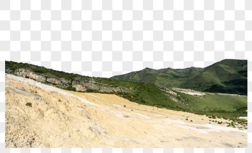 川西五彩滩群山全景图片