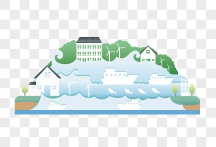 世界环境日海洋生态系统矢量素材图片