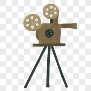 手绘复古摄像机图片