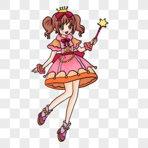 持魔法棒的小仙女图片