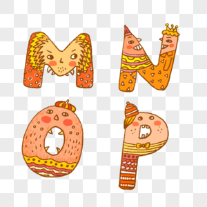 英文字母MNOP图片