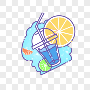 冰凉一夏饮料素材图片