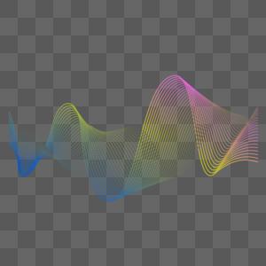 彩色波浪曲线图片