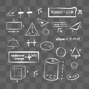 黑板数学公式图片