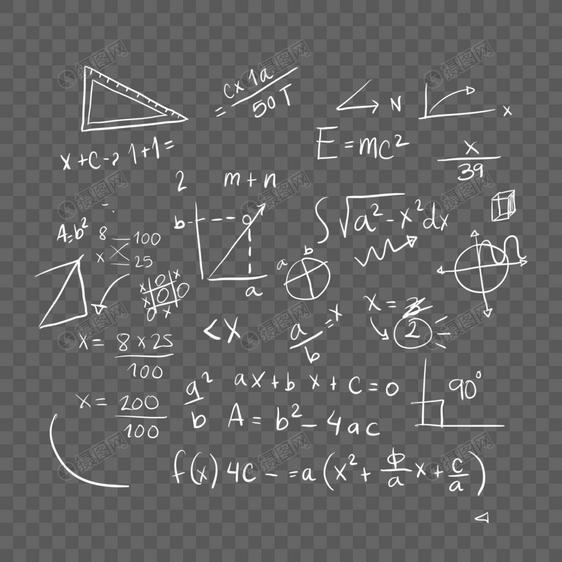 数学公式底纹图片