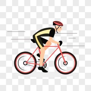参加骑行比赛的选手图片