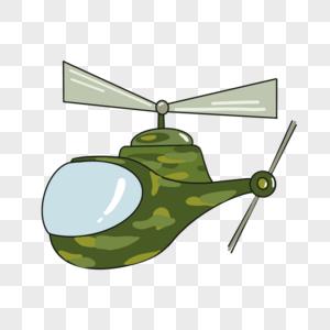 卡通直升机图片