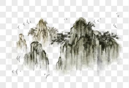 国画水墨山写意图片