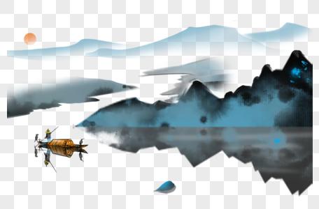 彩墨山水画图片