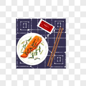 鱼排饭图片