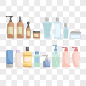 手绘洗浴用品图片