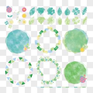 绿植边框素材图片