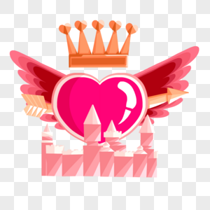 翅膀皇冠城堡一箭穿心图片