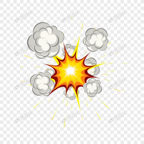 爆炸烟雾图片