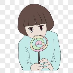 孩子吃糖图片