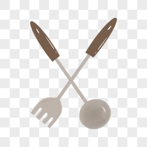 叉子勺子图片