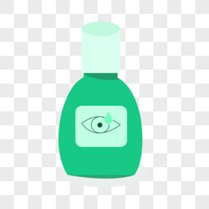 眼药水视力手绘插画图片