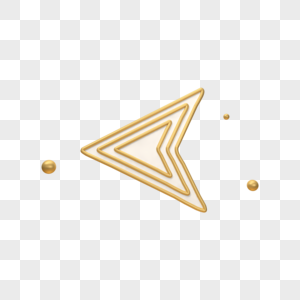 立体金色箭头图标图片