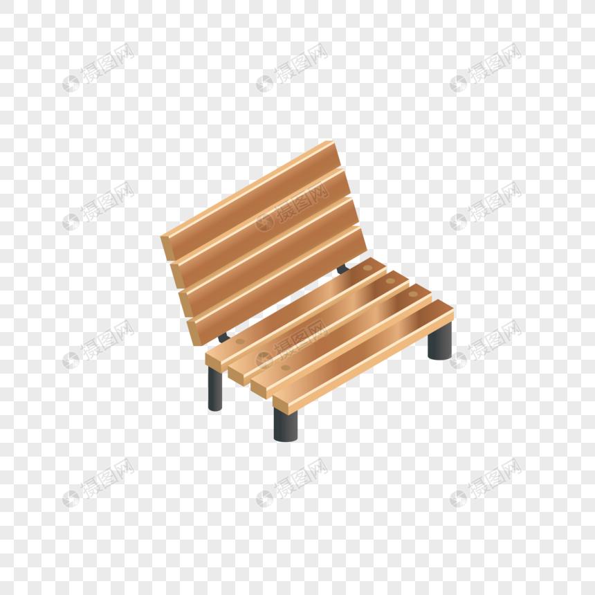 AI矢量图2.5D立体卡通可爱休息凳子板凳图片