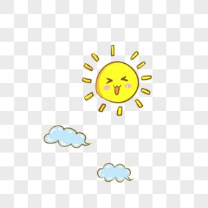 太阳云朵图片