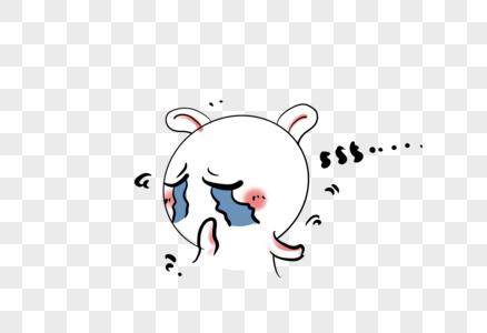 哭兔子表情包图片