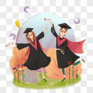 毕业生插画图片