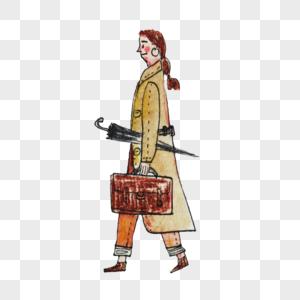 拿公文包的女人图片