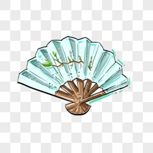 手绘中国风扇子图片