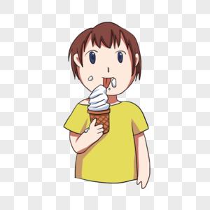 吃冰棍图片