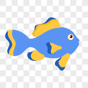 鱼图标免抠矢量插画素材图片