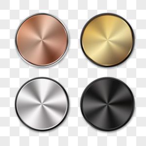 金属质感渐变按钮按键图片