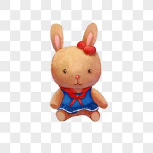 毛绒玩具兔子图片