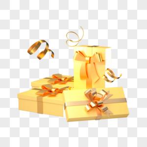 金色节日礼盒图片