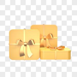 金色礼品盒图片