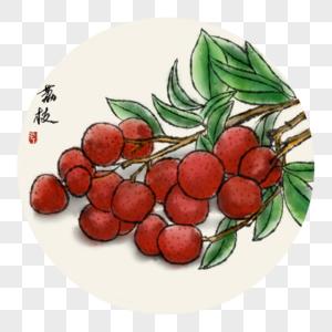中国风写意荔枝图片