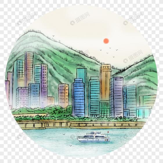中国风写意城市图片