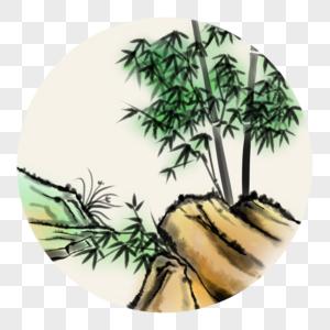 中国风写意竹石图片